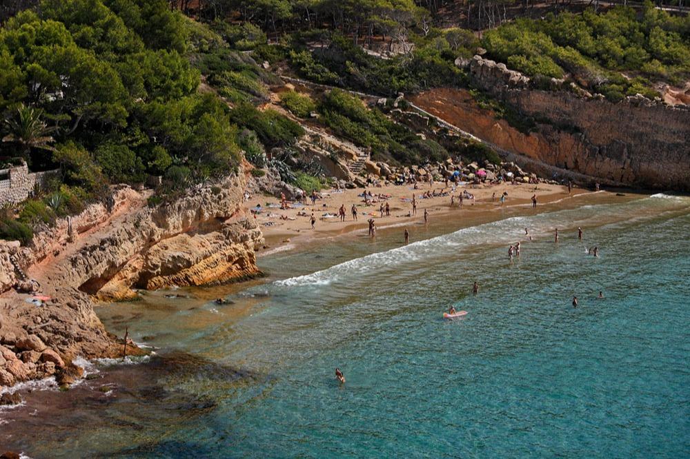 Playa Penya tallada